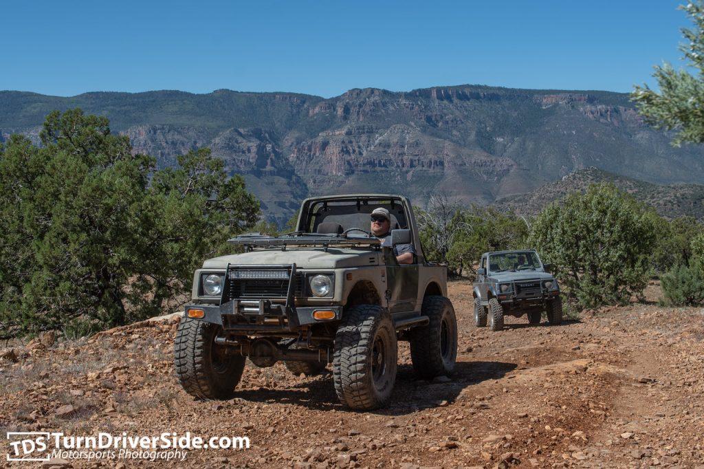 Suzuki Samurais on the Lone Pine Divide Trail Forest Road 202