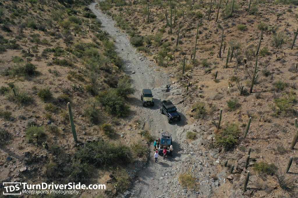 A shot from air of the Woodpecker Mine Trail.