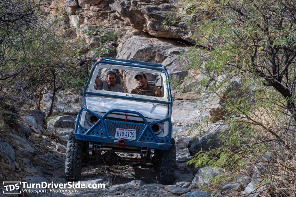 Matt from Ohio in his white Suzuki Samurai driving up the Woodpecker Mine Trail