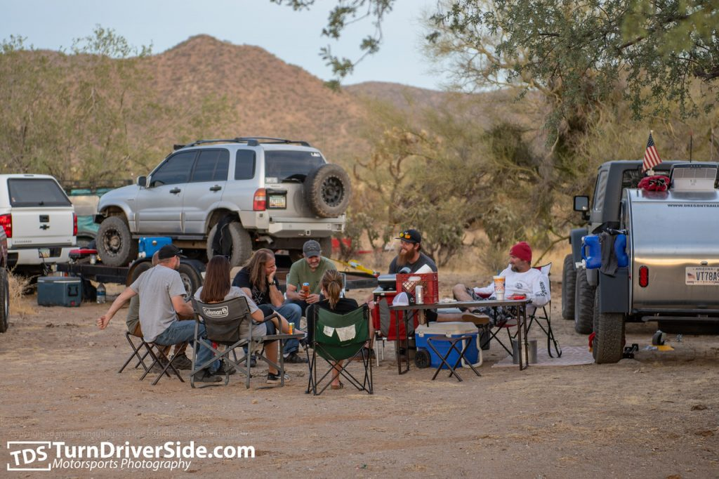 Hanging out at our campsite off of Mineral Mountain Road in Florence Junction, Arizona.