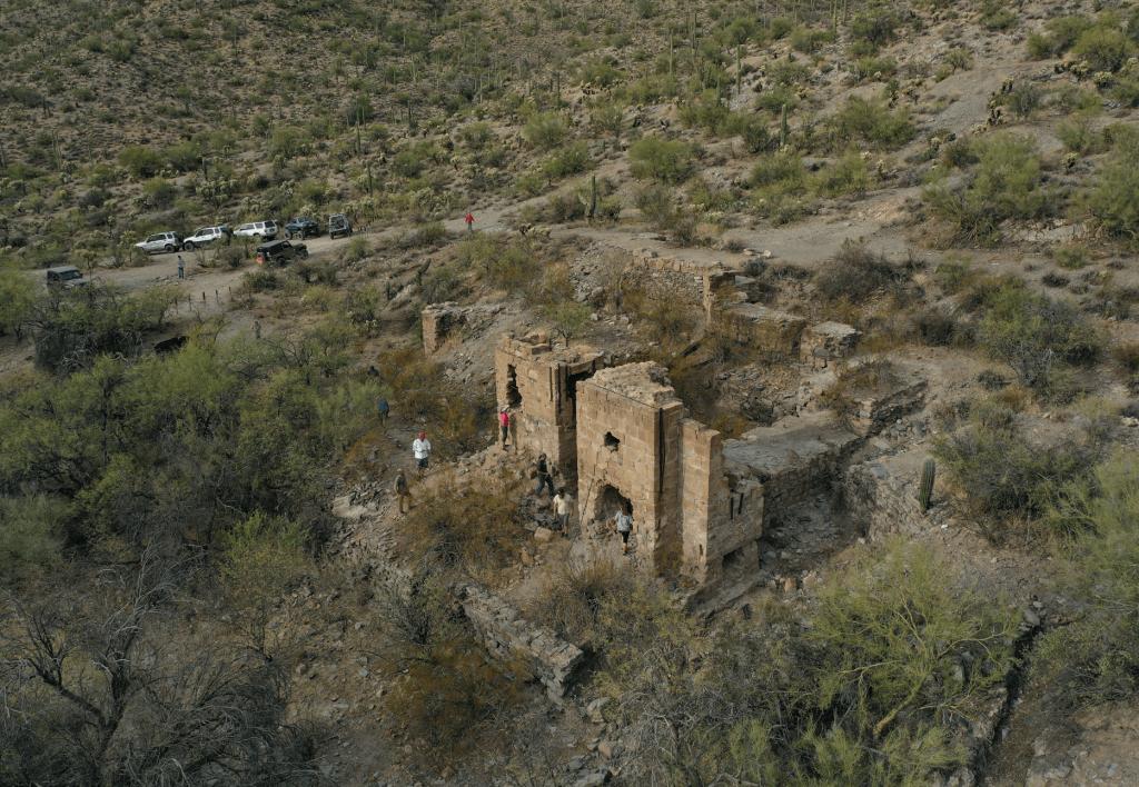 Reymert Mine ruins outside of Superior, Arizona