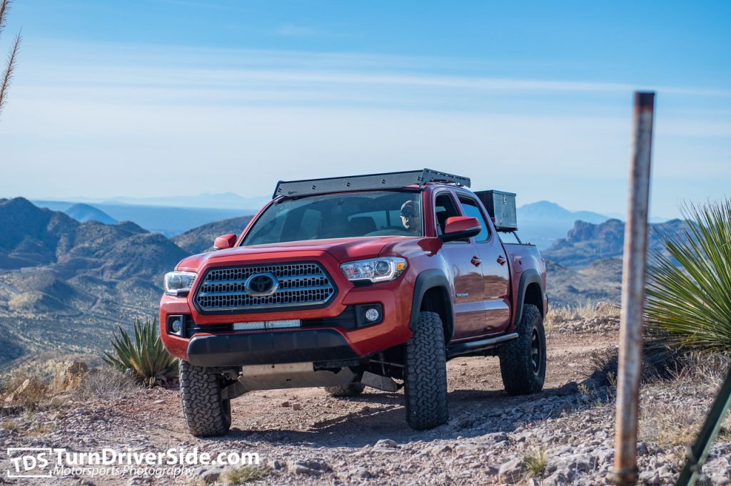 Lifted Toyota Tacoma on Cherry Creek Trail