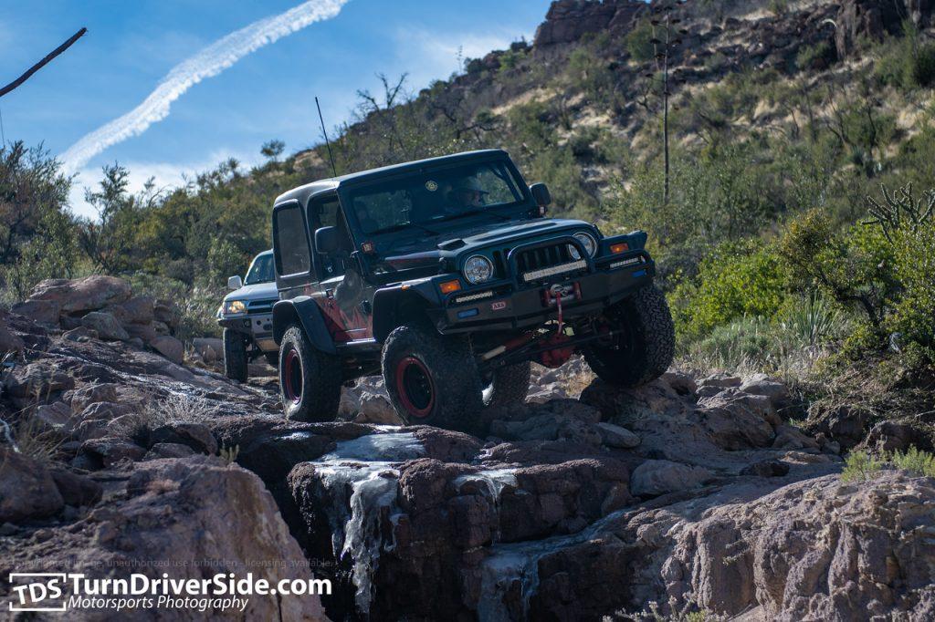 Jeep Rubicon on Hackberry Creek Trail