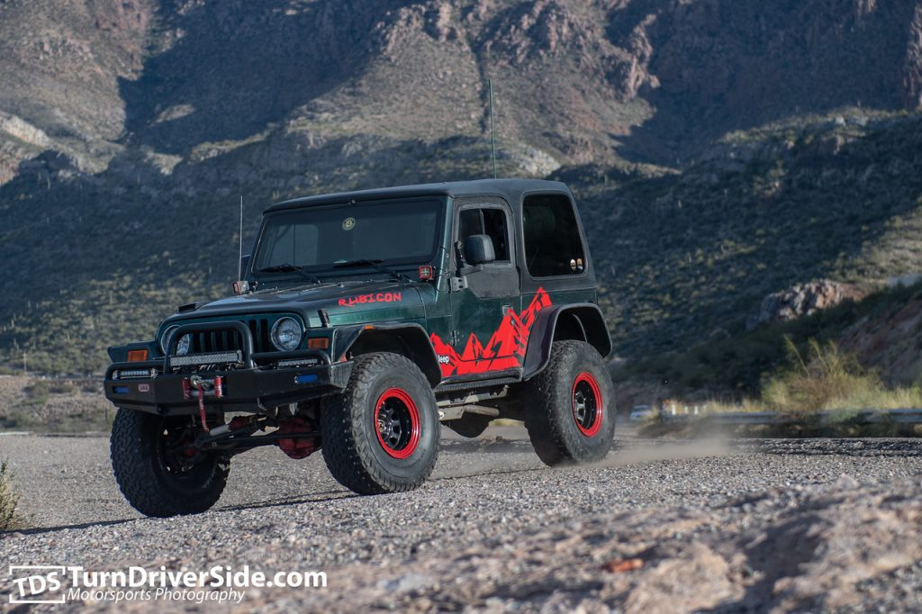 Jim Kawa's Jeep Rubicon on Hackberry Creek